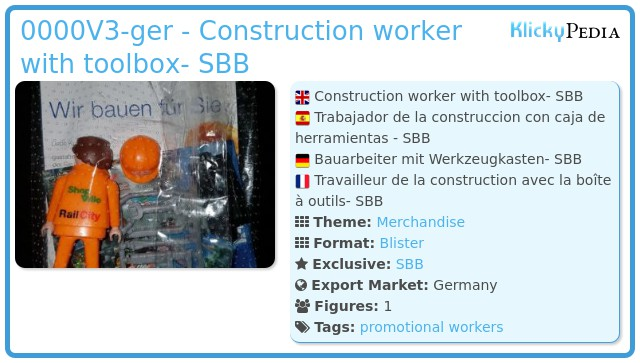 Playmobil 0000V3-ger - Construction worker with toolbox- SBB