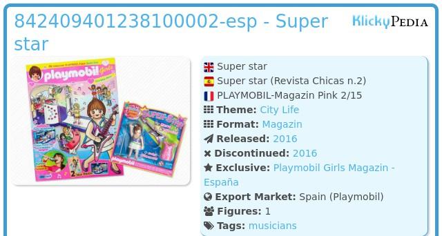 Playmobil 842409401238100002-esp - Super star