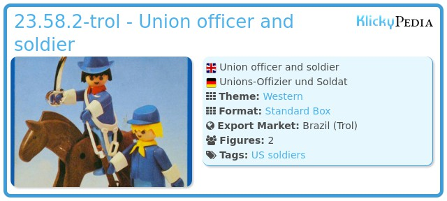 Playmobil 23.58.2-trol - Union officer and soldier