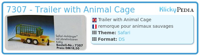 Playmobil 7307 - Trailer with Animal Cage