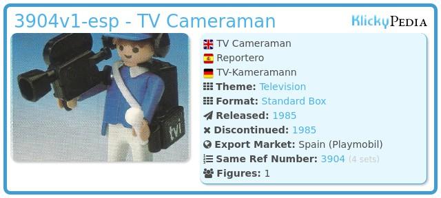 Playmobil 3904v1-esp - TV Cameraman