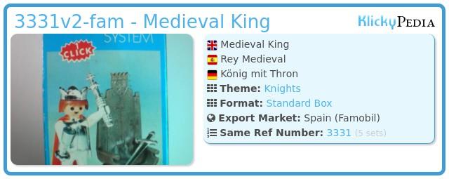 Playmobil 3331v2-fam -  Medieval King