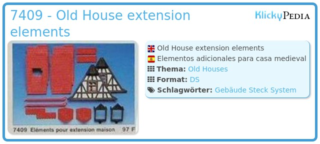 Playmobil 7409 - Old House extension elements