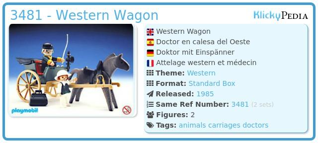 Playmobil 3481 - Western Wagon