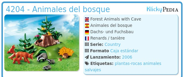 Playmobil 4204 - Animales del bosque