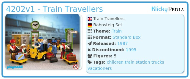 Playmobil 4202v1 - Train Travellers