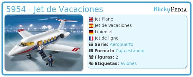 Playmobil 5954 - Jet de Vacaciones