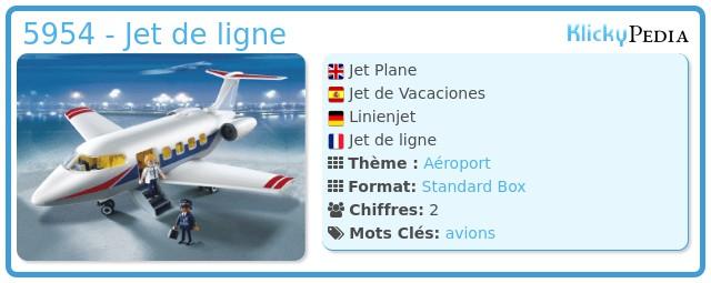 Playmobil 5954 - Jet de ligne