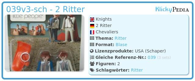 Playmobil 039v3-sch - 2 Ritter