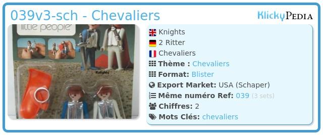 Playmobil 039v3-sch - Chevaliers