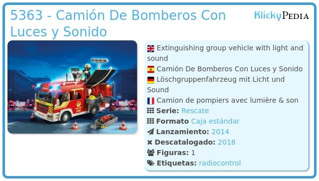 Playmobil 5363 - Camión De Bomberos Con Luces y Sonido