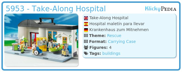 Playmobil 5953 - Take-Along Hospital