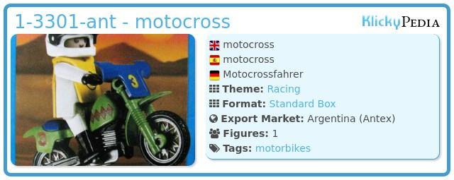 Playmobil 1-3301-ant - motocross