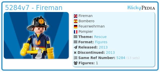 Playmobil 5284v7 - Fireman