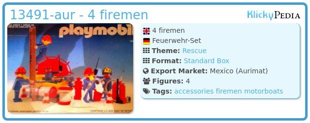 Playmobil 13491-aur - 4 firemen