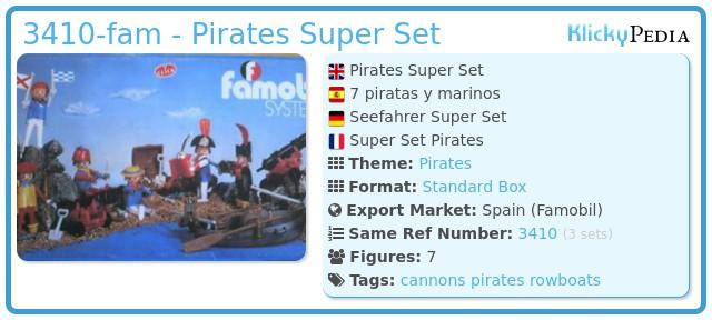 Playmobil 3410-fam - Pirates Super Set