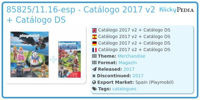 Playmobil 85825/11.16-esp - Catálogo 2017 v2 + Catálogo DS