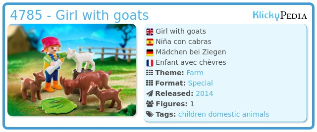 Playmobil 4785 - Girl with goats