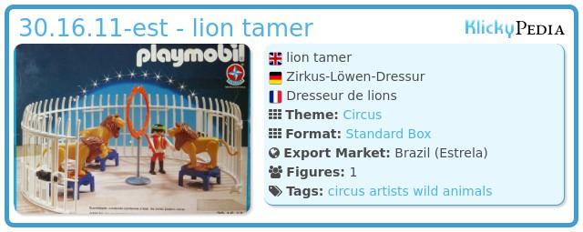 Playmobil 30.16.11-est - lion tamer