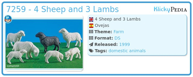 Playmobil 7259 - 4 Sheep and 3 Lambs