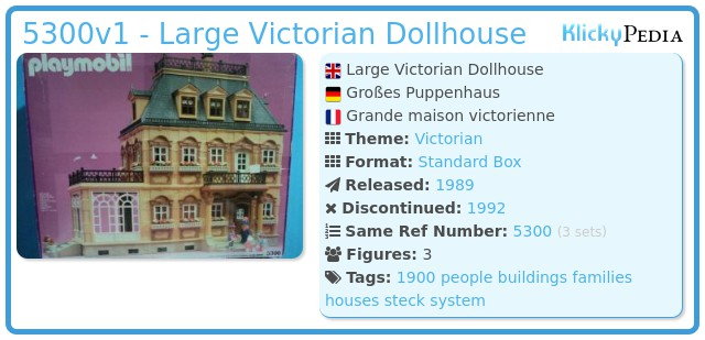 Playmobil 5300v1 - Large Victorian Dollhouse
