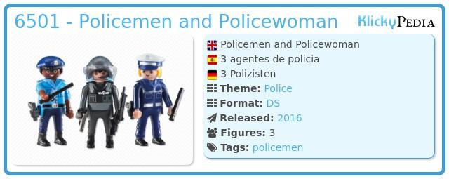 Playmobil 6501 - Policemen and Policewoman