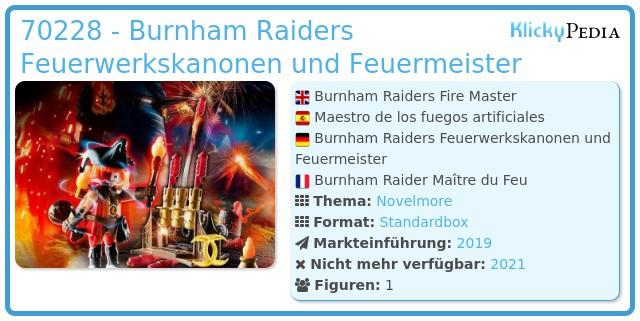 Playmobil 70228 - Burnham Raiders Feuerwerkskanonen und Feuermeister