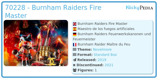 Playmobil 70228 - Burnham Raiders Fire Master