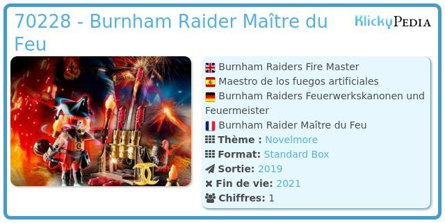 Playmobil 70228 - Burnham Raider Maître du Feu