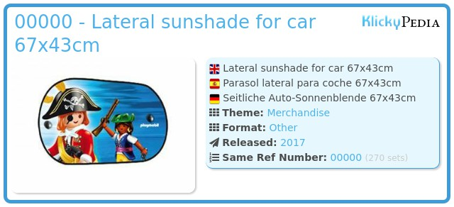 Playmobil 00000 - Lateral sunshade for car 67x43cm