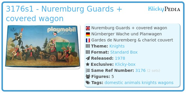Playmobil 3176s1 - Nuremburg Guards + covered wagon