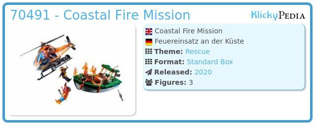Playmobil 70491 - Coastal Fire Mission