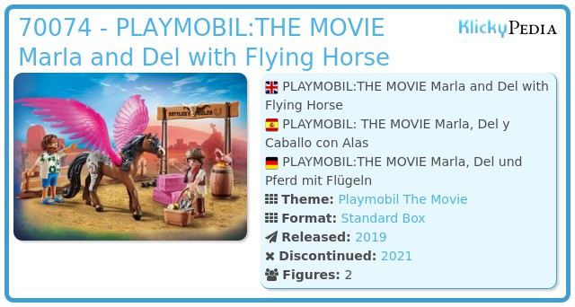 Playmobil 70074 - PLAYMOBIL:THE MOVIE Marla and Del with Flying Horse