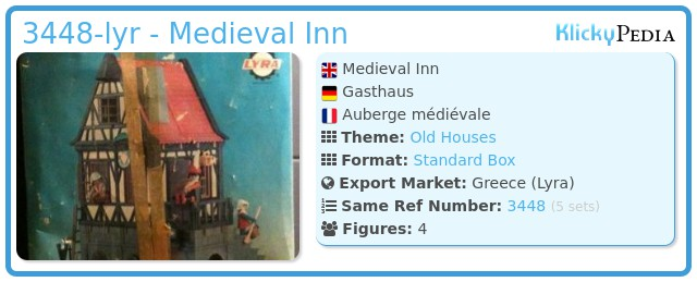 Playmobil 3448-lyr - Medieval Inn