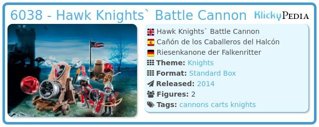 Playmobil 6038 - Hawk Knights` Battle Cannon