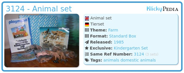 Playmobil 3124 - Animal set