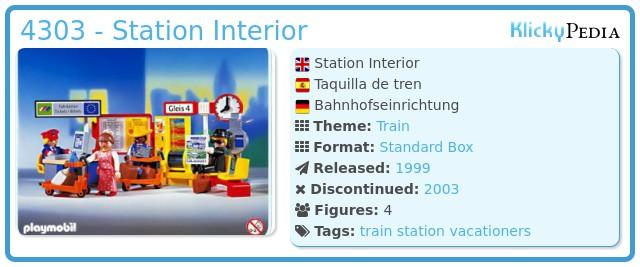 Playmobil 4303 - Station Interior