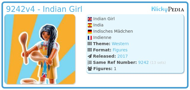 Playmobil 9242v4 - Indian Girl