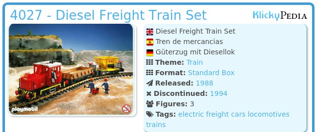 Playmobil 4027 - Diesel Freight Train Set