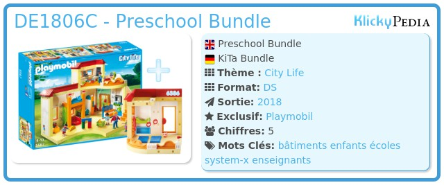 Playmobil DE1806C - Preschool Bundle