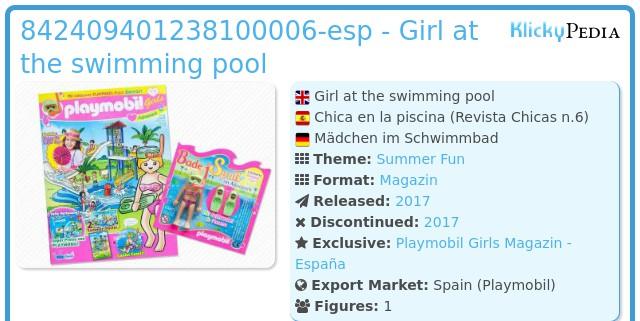 Playmobil 842409401238100006-esp - Girl at the swimming pool