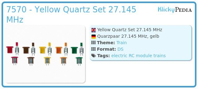Playmobil 7570 - Yellow Quartz Set 27.145 MHz