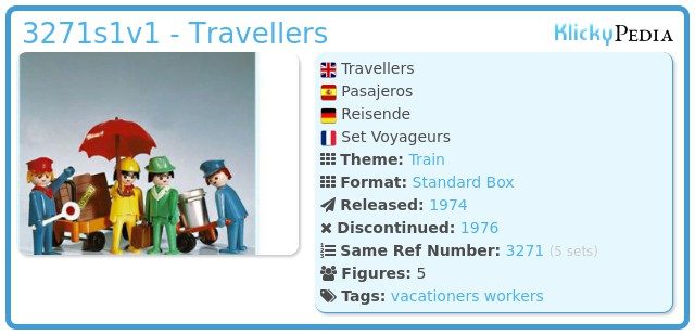 Playmobil 3271s1v1 - Travellers