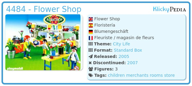 Playmobil 4484 - Flower Shop