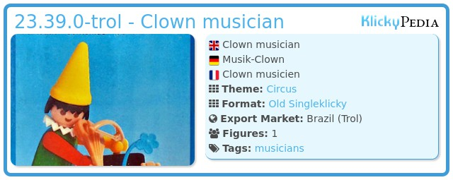 Playmobil 23.39.0-trol - Clown musician