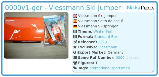 Playmobil 0000v1-ger - Viessmann Ski Jumper
