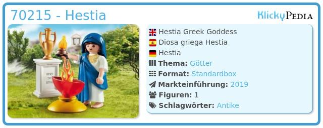 Playmobil 70215-gre - Hestia Greek Goddess