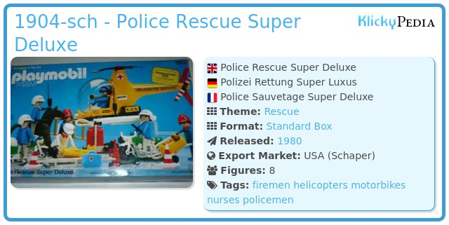 Playmobil 1904-sch - Police Rescue Super Deluxe