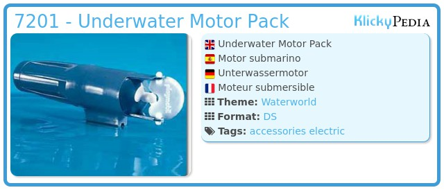 Playmobil 7201 - Underwater Motor Pack