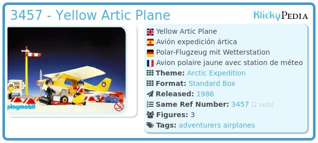 Playmobil 3457 - Yellow Artic Plane